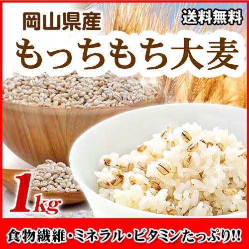 もっちもち大麦 1kg チャック付き 30年岡山県産