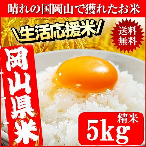 晴れの国岡山で穫れたお米 5kg 送料無料