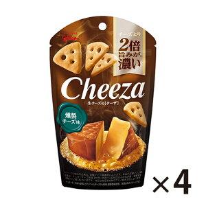 【エントリーでポイント最大5倍 4/9 〜 4/15迄】 (全国送料無料) グリコ 生チーズのチーザ〈燻製チーズ味〉40g 4コ入り メール便 (4901005544321x4m)