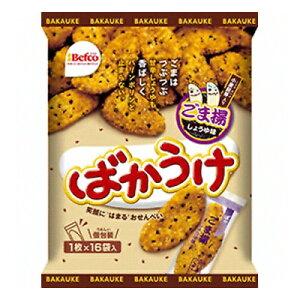 栗山米菓 ばかうけ(ごま揚) 1枚×16袋 12コ入り (4901336582658)