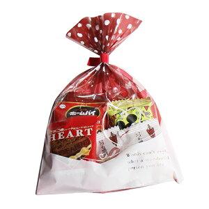 ハート柄袋 チョコレート詰め合わせセット 袋詰め おかしのマーチ (omtma6036)