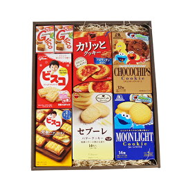 (地域限定送料無料) アーモンドグリコ入り ビスコ・クッキーお菓子わくわくギフトセット(9種・計14コ) (omtma6142k)