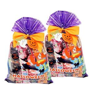 (地域限定送料無料) 【2コセット】食べきりチョコっとサイズ個包装タイプ チョコレート・駄菓子セット(計28コ) ハロウィンラッピングA おかしのマーチ (omtma6306k)