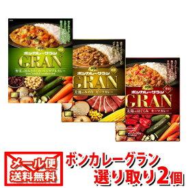(全国送料無料)大塚食品 ボンカレーグラン3種 選り取り2コセット メール便