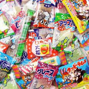 (全国送料無料) グミ&ラムネ&ゼリー&マシュマロ 駄菓子セット(8種・全40コ) メール便 おかしのマーチ (omtmb0590)
