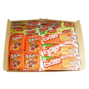 (全国送料無料) おかしのマーチ 駄菓子3種セット A(ビックカツ 10コ・ラーメン太郎 10コ・おやつカルパス 20コ)計40コ メール便 (omtmb0669)