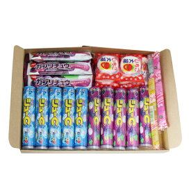 (全国送料無料)おかしのマーチ ラムネ・ゼリー・マシュマロ チューイングキャンディ駄菓子食べ比べ(4種・全25コ)セット A メール便 (omtmb0768)