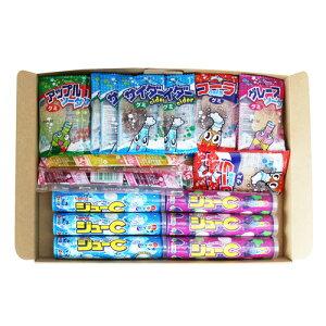 (全国送料無料)おかしのマーチ グミ・ラムネ・ゼリー 駄菓子食べ比べ(3種・全31コ)セット メール便 (omtmb0770)