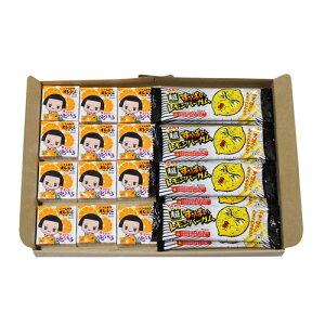 (全国送料無料) マルカワ チコちゃん オレンジガム(12コ)& すっぱいレモンバーガム(8コ)セット メール便 (omtmb5551)