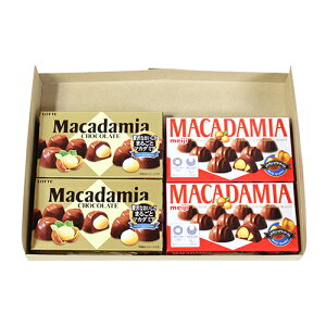 (全国送料無料)ロッテ・明治 マカダミアチョコレートセット(2種・計4コ) メール便