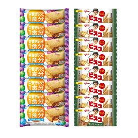 (全国送料無料) グリコ ビスコミニパック〈香ばしアーモンド〉(8コ)& バランスオンminiケーキ チーズケーキ(8コ)セット おかしのマーチ メール便 (omtmb6444)
