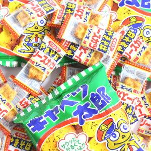(全国送料無料) 特製ソース味!ペヤングのソースカツとキャベツ太郎の濃い口駄菓子セット (2種・計38個) おかしのマーチ メール便 (omtmb6977)