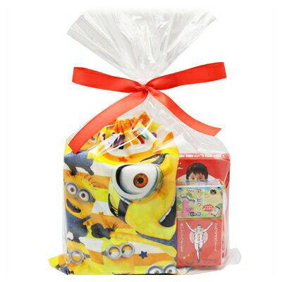 おかしのマーチ ミニオンズ巾着(大判)&グリコお菓子A ラッピングセット
