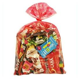 おかしのマーチ 食べきりチョコっとサイズ個包装タイプ チョコレート・駄菓子セット(19種 全28コ入り) 花柄ラッピングA