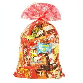 おかしのマーチ 食べきりチョコっとサイズ個包装タイプ チョコレート・駄菓子セット(19種 全69コ入り) 花柄ラッピングB