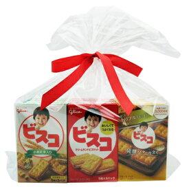 おかしのマーチ グリコ ビスコ食べ比べセット(3種×4コ)12コ入り ラッピングver