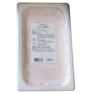 (地域限定送料無料) (単品)UCC業務用 ロッテアイス プライム さくら 黒みつ 2000ml(冷凍)