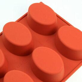 シリコンフレックス オーバル型8ヶ付 SF-055  シリコン型 ケーキ型 お菓子