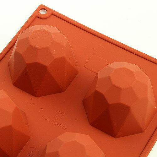シリコンフレックス ダイヤモンド 6個付き SF-049 ケーキ型