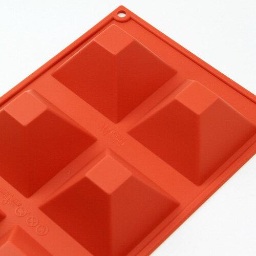 シリコンフレックス ピラミッド型6ヶ付 SF-007 シリコン型  ケーキ型