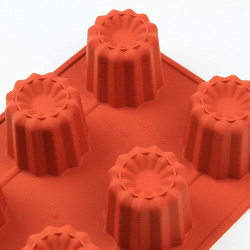 シリコンフレックス カヌレ型8ヶ付 SF-050  シリコン型 ケーキ型