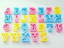 【5月限定 抜き型10%クーポン対象商品】プラスチック クッキー抜き型  アルファベット 26組 #1733 クッキー型…