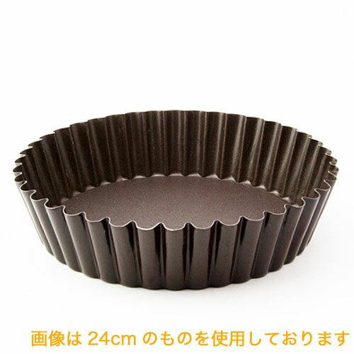 ケーキ型 フッ素加工 ギザマンケ型 底取れ 24cm 深型タルト型 マンケ型