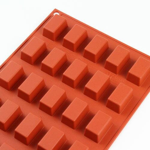 シリコンフレックス ミニケーキ 長方 30個付き SF181 ケーキ型