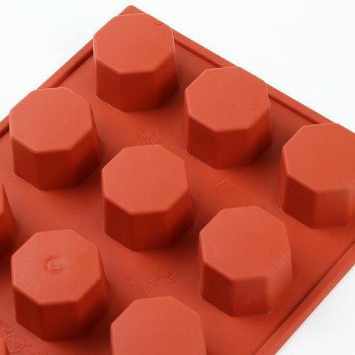 シリコンフレックス オクタゴン 8角形 15個付き SF037 ケーキ型
