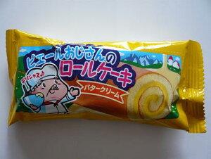 やおきん ピエールおじさんのロールケーキ(バタークリーム) 24個入 駄菓子