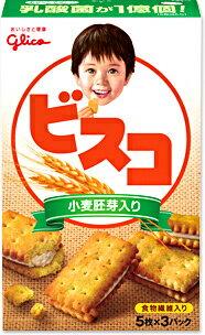 グリコ ビスコ小麦胚芽 (15枚) 10箱入