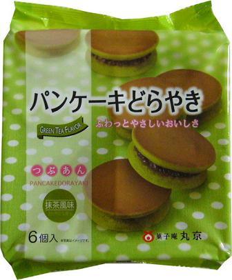 【心ばかりですが…おまけつきます☆】丸京製菓パンケーキどらやき抹茶*6個×6袋入