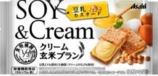 【心ばかりですが…おまけつきます☆】アサヒフード&ヘルスケアクリーム玄米ブラン豆乳カスタード72g×6袋入