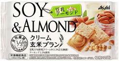 【心ばかりですが…おまけつきます☆】アサヒグループ食品アサヒクリーム玄米ブラン豆乳アーモンド72g×6袋入