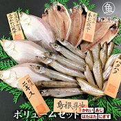 【送料無料】地魚干物ボリュームセット《かれい・あじ・はたはた・にぎす》