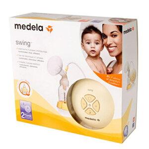 メデラ日本正規品スイング電動さく乳器セット(MedelaSwing)カーム付き、るいぼす茶付き、ピュアレーン2本付き