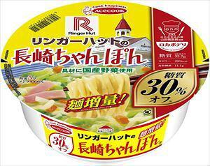 送料無料 エースコック ロカボデリ リンガーハットの長崎ちゃんぽん 糖質オフ 85g ×12個(1ケース)
