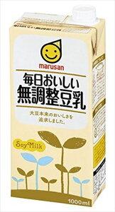 マルサンアイ 毎日おいしい無調整豆乳 1000ml × 6本 ケース