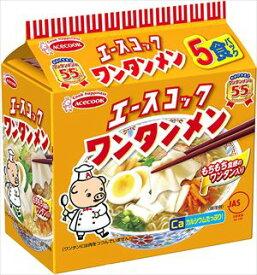 送料無料 エースコック ワンタンメン 5食入×6個