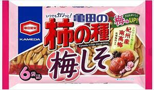 亀田の柿の種 梅しそ 6袋詰×12袋