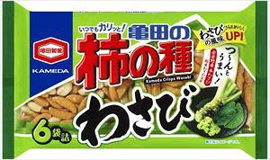 亀田製菓 亀田の柿の種 わさび 6袋詰 182g×12袋