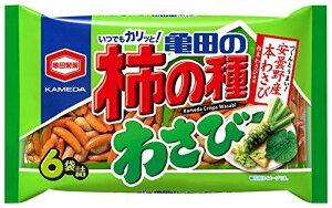 亀田製菓 亀田の柿の種 わさび 6袋詰 182g 1袋