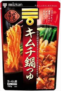 送料無料 ミツカン 〆まで美味しいキムチ鍋つゆ ストレート 750g×12袋
