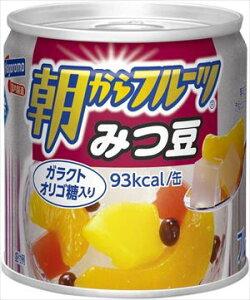 送料無料 はごろも 朝からフルーツ みつ豆 190g×12個