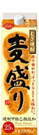 麦盛り(むぎざかり) 25度 パック 1800ml 1.8L【麦焼酎】【合同酒精】【02P03Dec16】