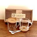 ギフトsmileガラスマグ&スプーンセット2250mlgooddaycafe(グッドデイカフェ)キッチンマグカップガラスペアセットギフトプレゼントマグカップ北欧雑貨