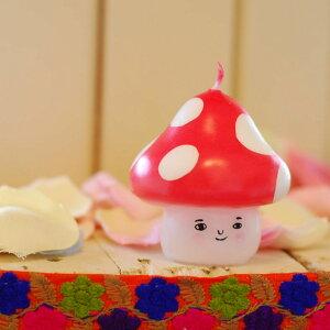 ピチオキャンドル きのこ 絵付けキャンドル 【pichio candle】(手作り/ライト/かわいい/キャラクター/置物/ろうそく/オブジェ)日本製 ハンドメイド 北欧/雑貨/贈り物/ギフト/おしゃれ/かわいい/