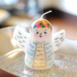 ピチオキャンドル 天使 絵付けキャンドル 【pichio candle】(手作り/ライト/かわいい/キャラクター/置物/ろうそく/オブジェ)日本製 ハンドメイド 北欧/雑貨/贈り物/ギフト/おしゃれ/かわいい/プ