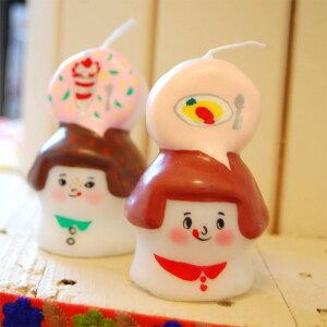 ピチオキャンドル 女の子 絵付けキャンドル 【pichio candle】(手作り/ライト/かわいい/キャラクター/置物/ろうそく/オブジェ)日本製 ハンドメイド 北欧/雑貨/贈り物/ギフト/おしゃれ/かわいい/