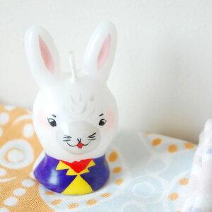 ピチオキャンドル ウサギ 絵付けキャンドル 【pichio candle】(手作り/ライト/かわいい/キャラクター/置物/ろうそく/オブジェ)日本製 ハンドメイド 北欧/雑貨/贈り物/ギフト/おしゃれ/かわいい/